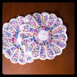 Other - Vintage Handmade Crochet Trivets